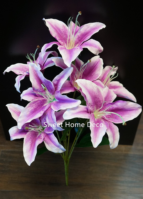 Buy Sweet Home Deco 223939 Silk Stargazer Lily Artificial