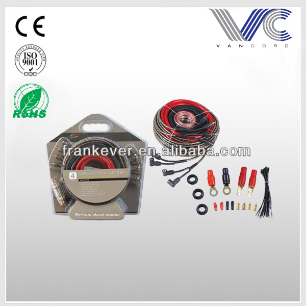 FrankE ver 6ga Car Amp Wiring Kit Flexible PVC copper premium Audio car cable kit car accessories