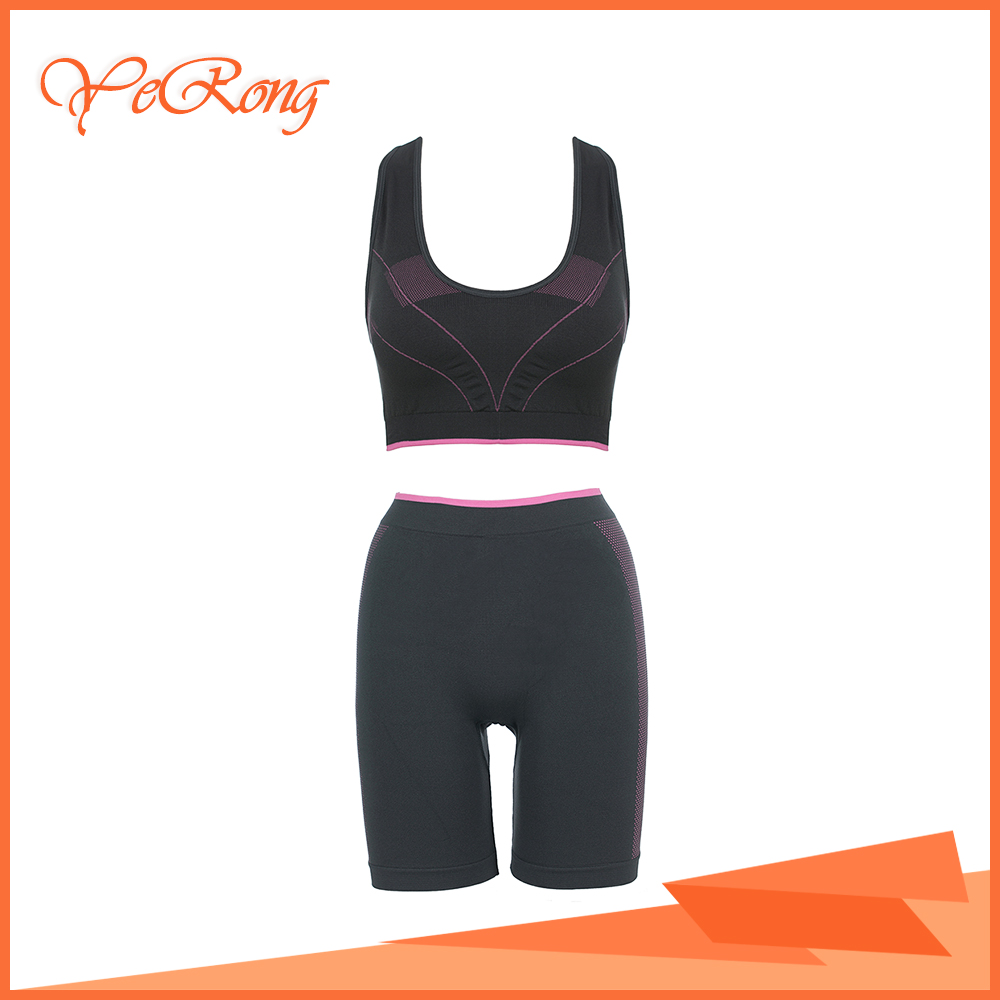 Women Newest Yoga Wear Seamless Sport Clothing Fitness Set