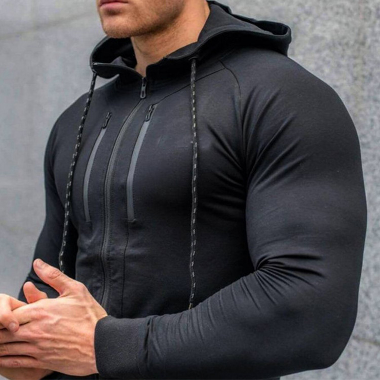 Printemps Nouveau Hommes Sweats à Capuche Mode Casual Gymnases Fitness Veste À Capuche