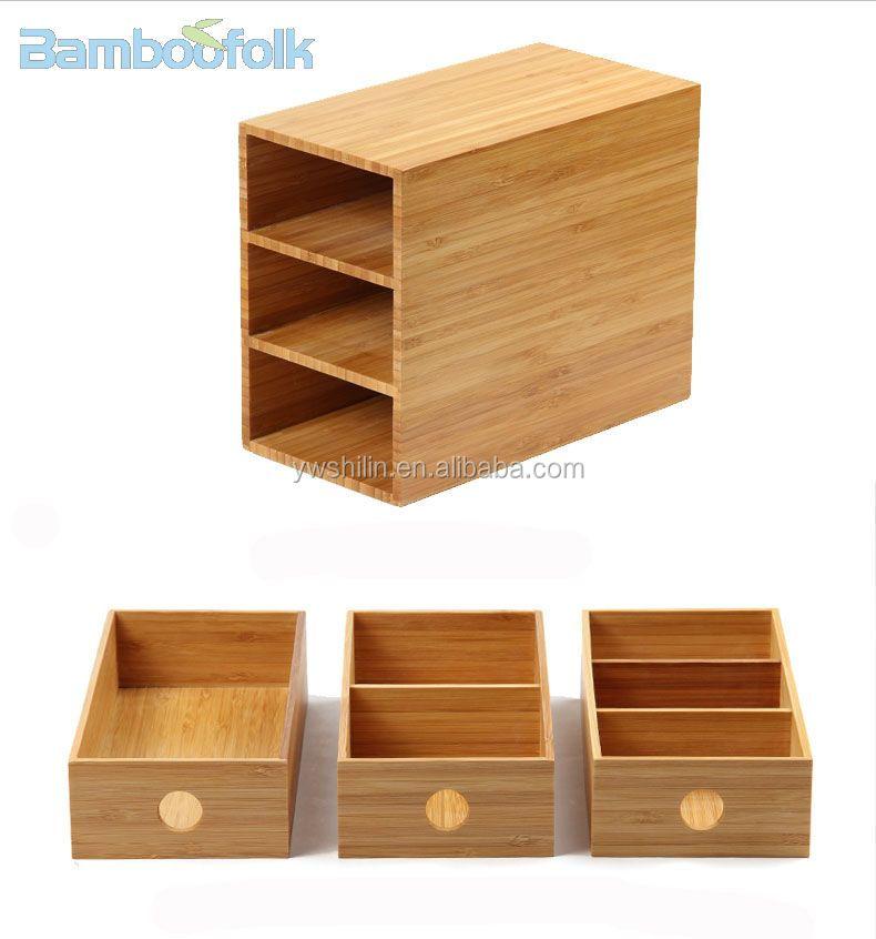 Nouveau Design 100% Handmake Bambou Boîtes De Rangement Avec 3 ...