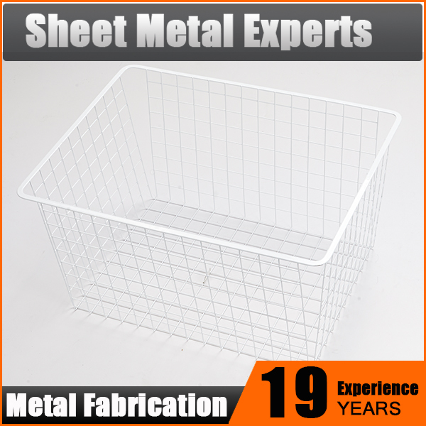 Wire Mesh Drawer Basket, Used for Home Storage with Epoxy Coating