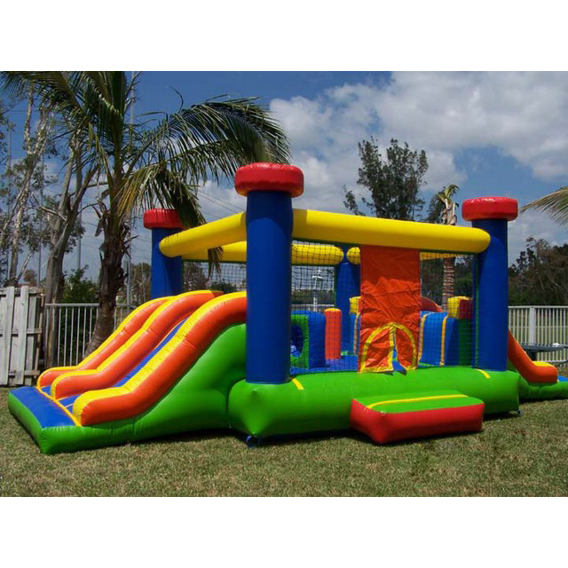 Guangzhou Wholesale Kids Jumping Air Bouncer Castle Inflatable Bouncer Castle with Slide for Sale