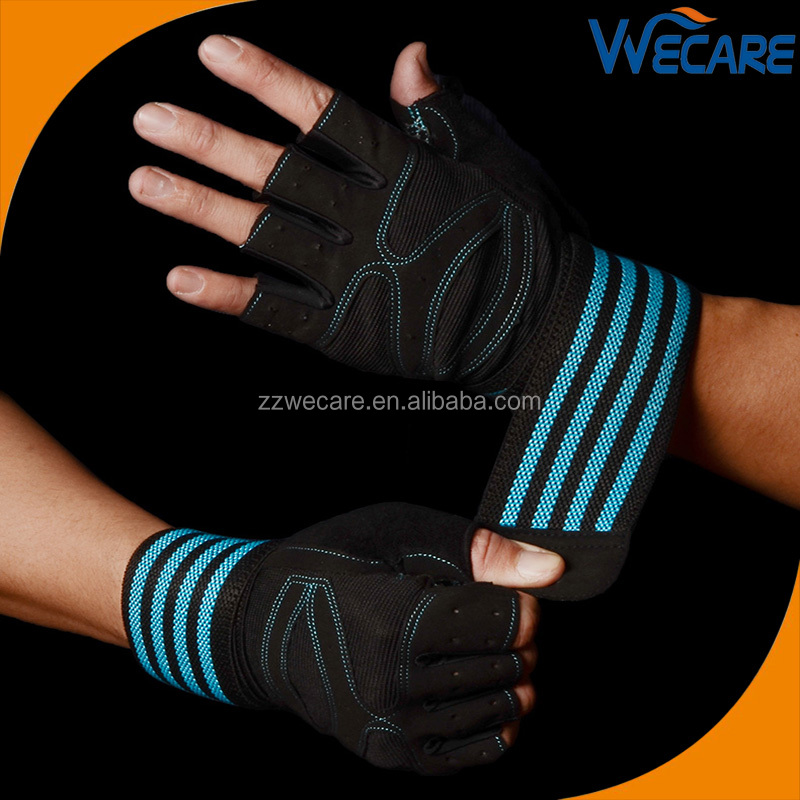 Fingerless WeightLifting Gloves Great Palm Protection Wrist Support Padded Grips For WODs BodyBuilding Gym