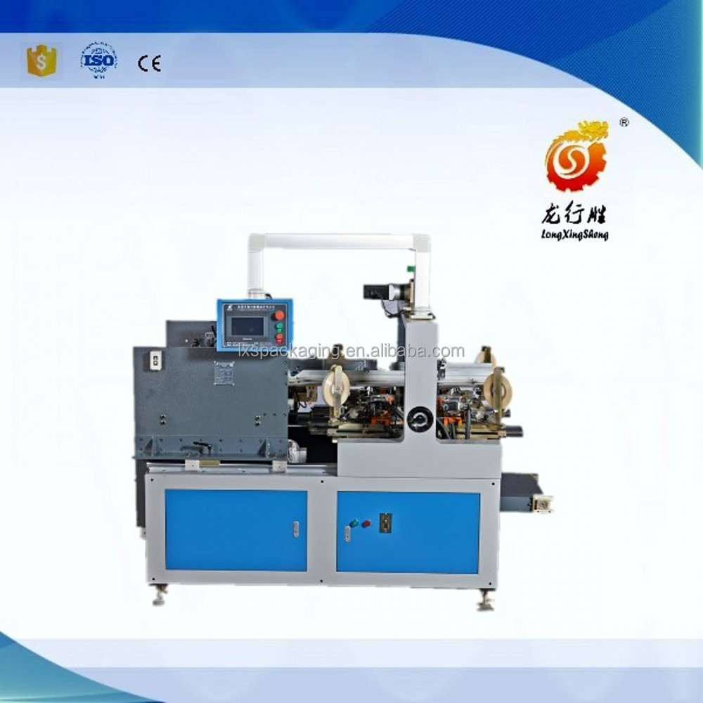 Box corner pasting machine with tape for box making