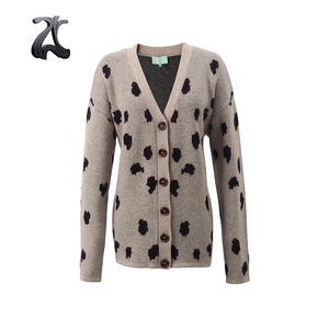 Ladies Formal Jacquard Knitting Winter Cardigans Sweater Women