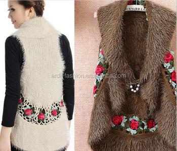 Women Ladies Flower Handmade Crochet Sleeveless Shawl Cardigan Buy