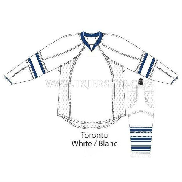 Custom Blank Hockey Jerseys/Practice Jerseys Toronto White Hockey Jerseys