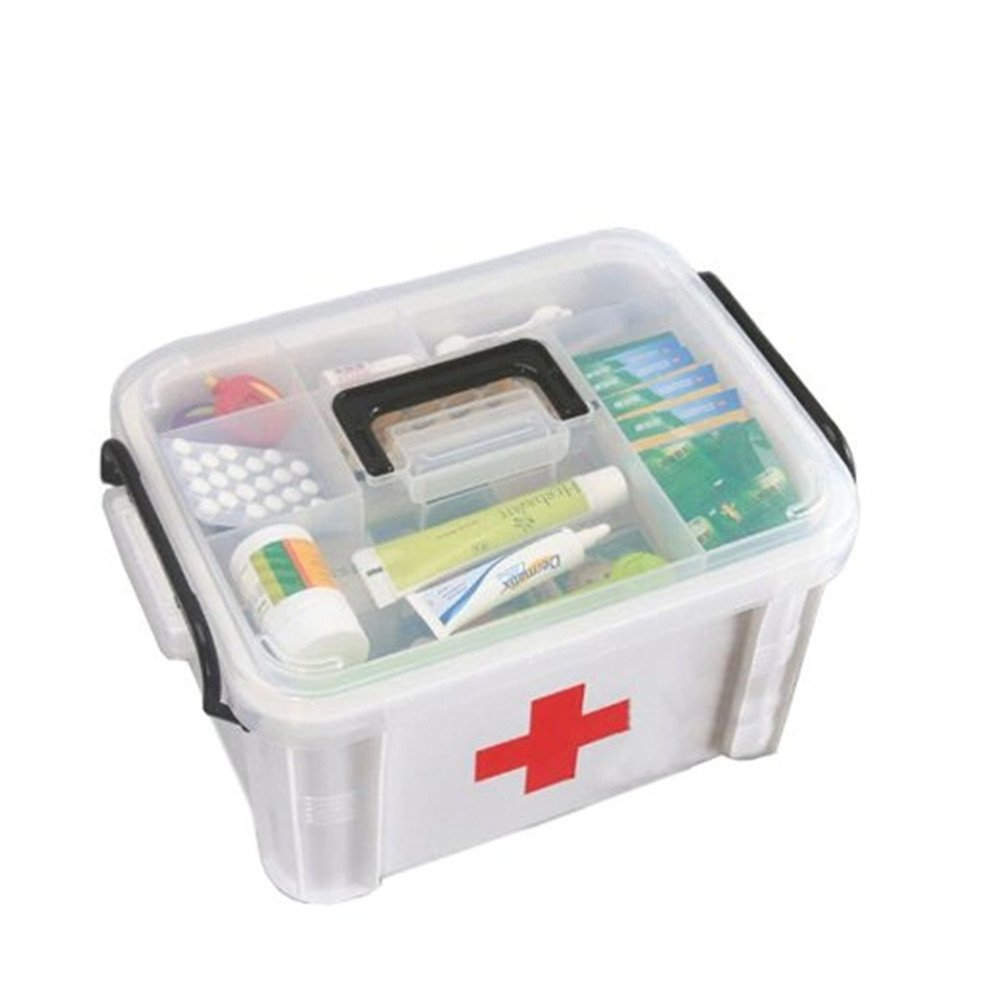 "Kangkang@ Creative Large Portable Medicine Kit Travel Medical Box,13""x9.5"",Random Color"