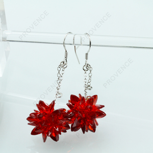 Design Bridal Red Earring Of Marquise Cubic Zirconia CZ Stone