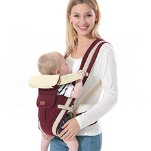 Adjustable newborn infant baby carrier comfortable wrap rider sling backpack