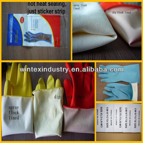 extra long household rubber cleaning gloves;girls latex household gloves kitchen gloves;long sleeve rubber gloves