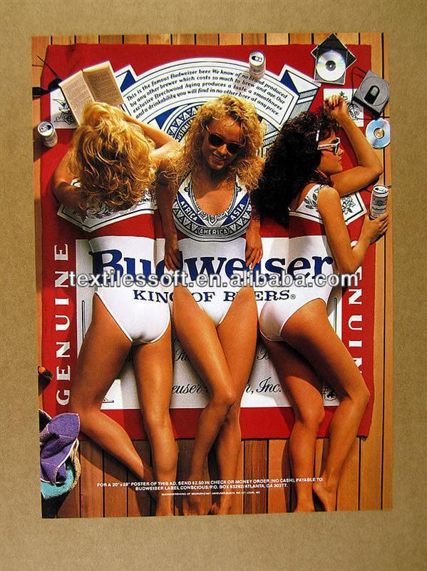 1987 Bud Budweiser Beer 3 Sexy Girls Beach Towel Buy Hot