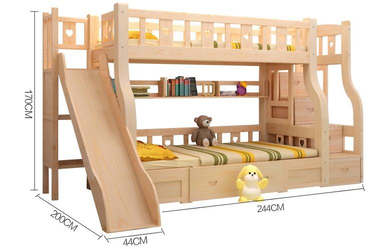 Nuevo dise o de madera maciza cama litera para ni os camas for Literas de madera para ninos