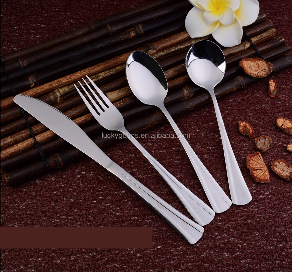 wedding Mirror polished finish stainless steel flatware set wholesale
