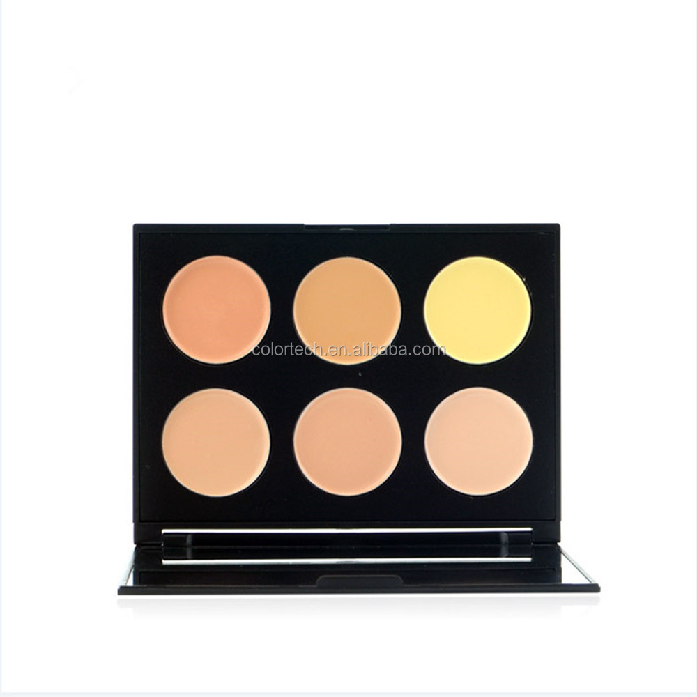 makeup brush for 6 colors luminous eye shadow palette