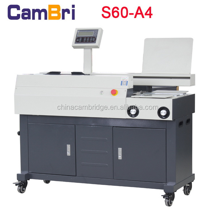 A4 Size Automatic Perfect Glue Book Binding Machine With 3