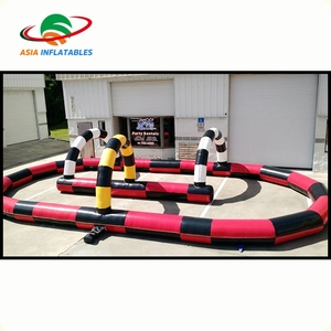 Hot sale inflatable barrier inflatable speedway race track race track for rental