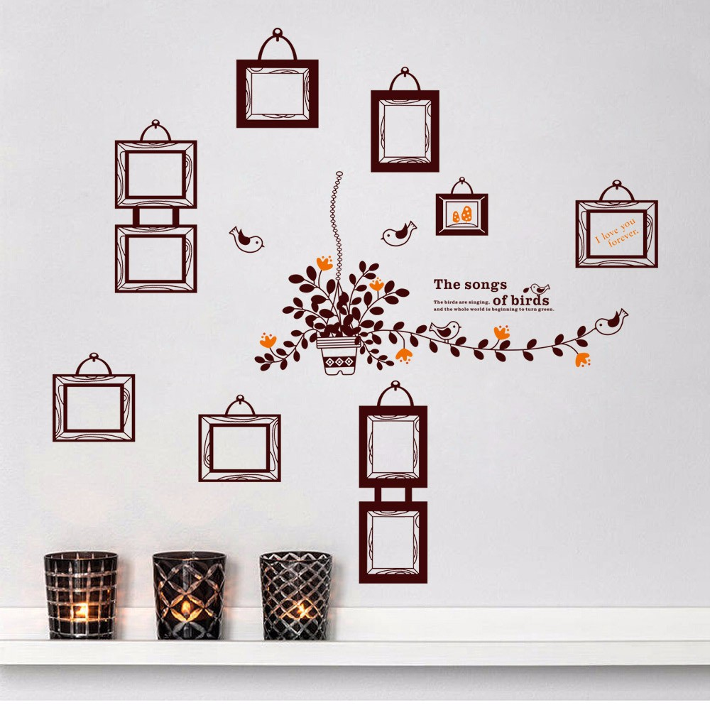 Aw9224 Photo Frame Wall Decal Diy Family Tree Wall Sticker For Home ...