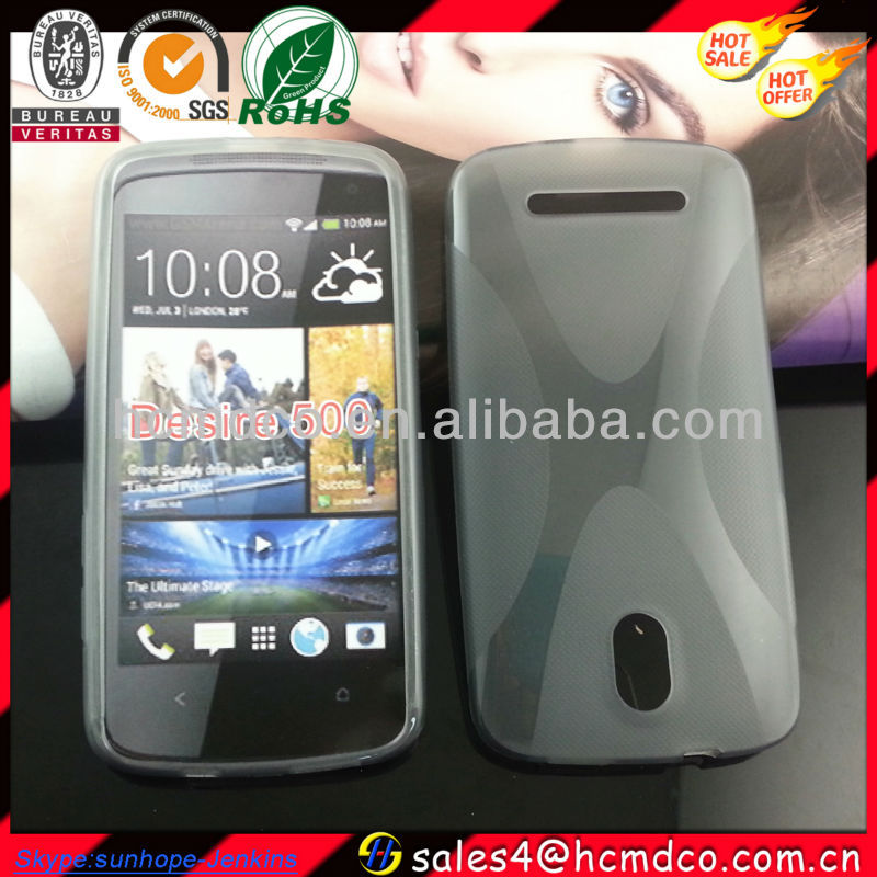 X-line Wave gel tpu Case cross Cover for HTC desire 500 506e