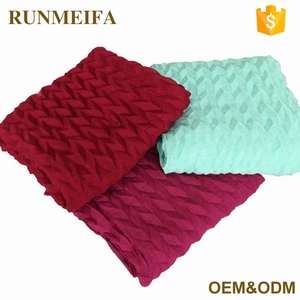 Wholesale Woven Scarf Pleated Hijab Fashionable Pashmina Scarves
