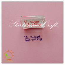 custom acrylic stamps for scrapbooking, make thank you letter mini stamp