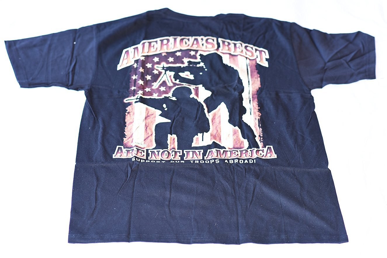 e31e2deb6 Get Quotations · 7.62 Design T-shirt America's Best Are Not in America -  Support Our Troops Abroad