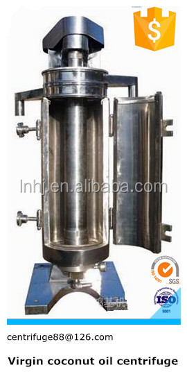 High Speed Super Centrifuge, Continuous Separation of Two Immiscible Liquids and Little Solid