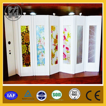 Decorous Design Pvc Accordion Folding Doorsinterior Plastic Rolling