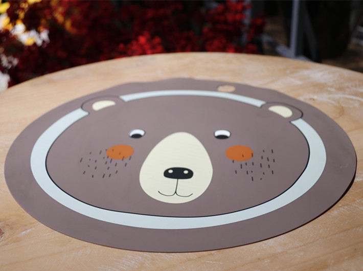 2019 hot sale Animal round  Silicone Placemat