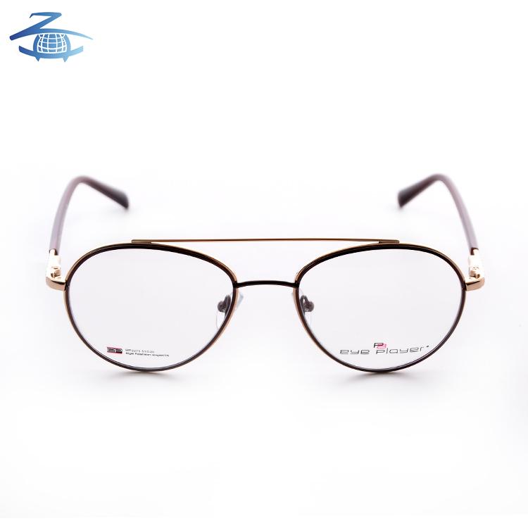Silicone nose pad glasses frames eyewear classic double bridge metal optical frames