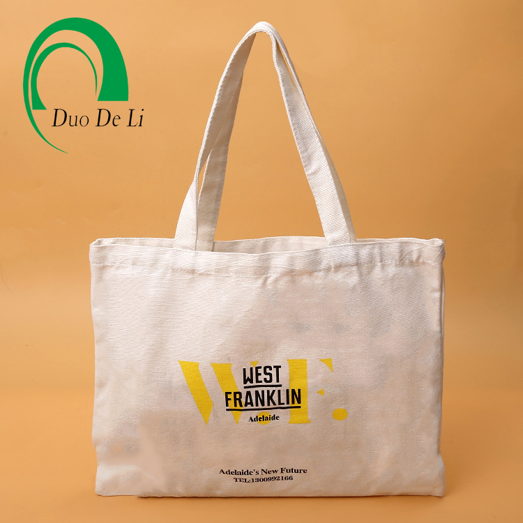 Promotional colorful printed recyclable shopping cotton bag