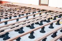 Outdoor raised paver floor support adjustable plastic terrace pedestals