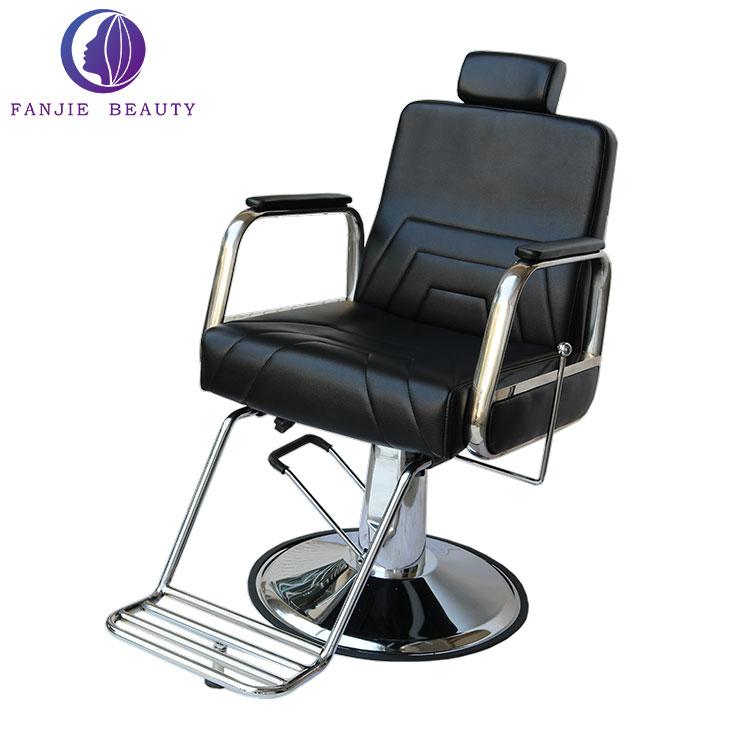 Portable Hair Salon Chair Black Hairdressing Chair Salon