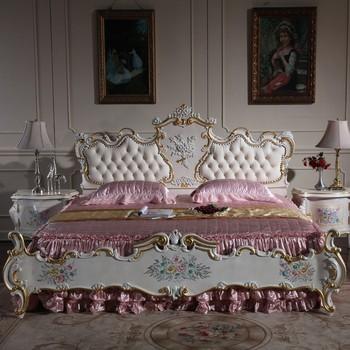 italiaans frans antiek meubilair slaapkamer set met de hand gesneden indische meubelen