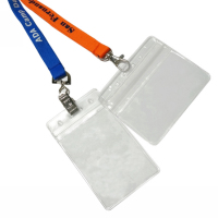 Plastic Clear Soft PVC ID Badge Holder