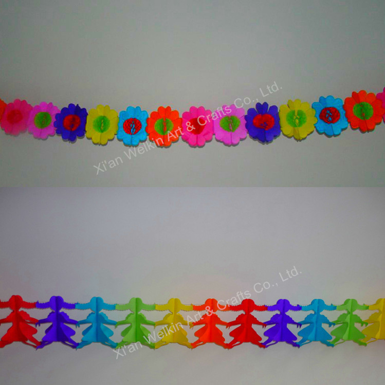 Paper Garland Crepe Paper Christmas Decorations