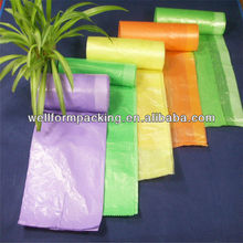 Wellform Packing manufacture plastic hdpe and ldpe colored drawstring trash garbage bag-custom thickness, size, colors