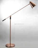 cheap modern luxury iron gold office study decorative book reading metal adjustable table lamp light with brass lamp shade