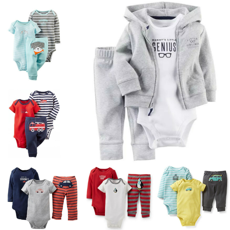 3pc Baby Clothes Autumn Winter Carters Baby Boy Clothes Set Boys Jumpsuit Infant Newborn Baby Coat Boys Jackets Carters Orginal