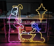 Christmas lighted nativity ชุด