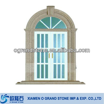 Design decorative exterior carving granite stone window for Granite a frame plans