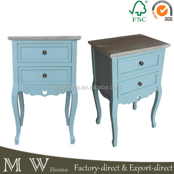 Shabby Chic Bedroom Classic European Furniture,Blue Painted Wooden ...