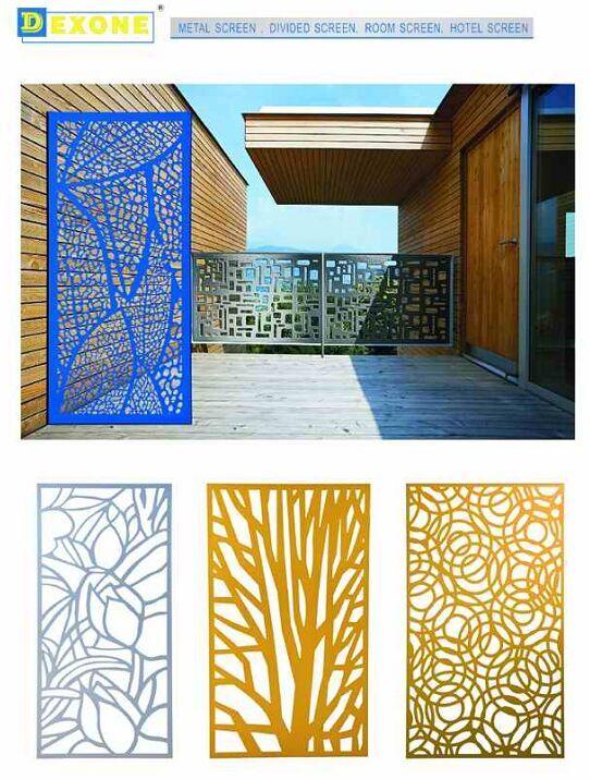 Cnc Metal Laser Cut Panels Hotel Metal Partition Wall