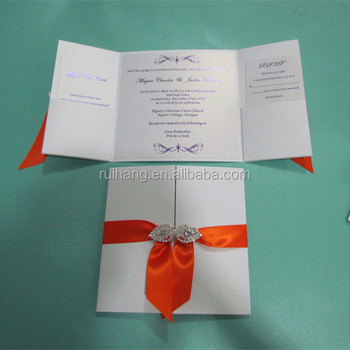 Big Size Gate Fold Pocketfold Paper Wedding Invitation Cards Buckle U0026  Pocket Insert
