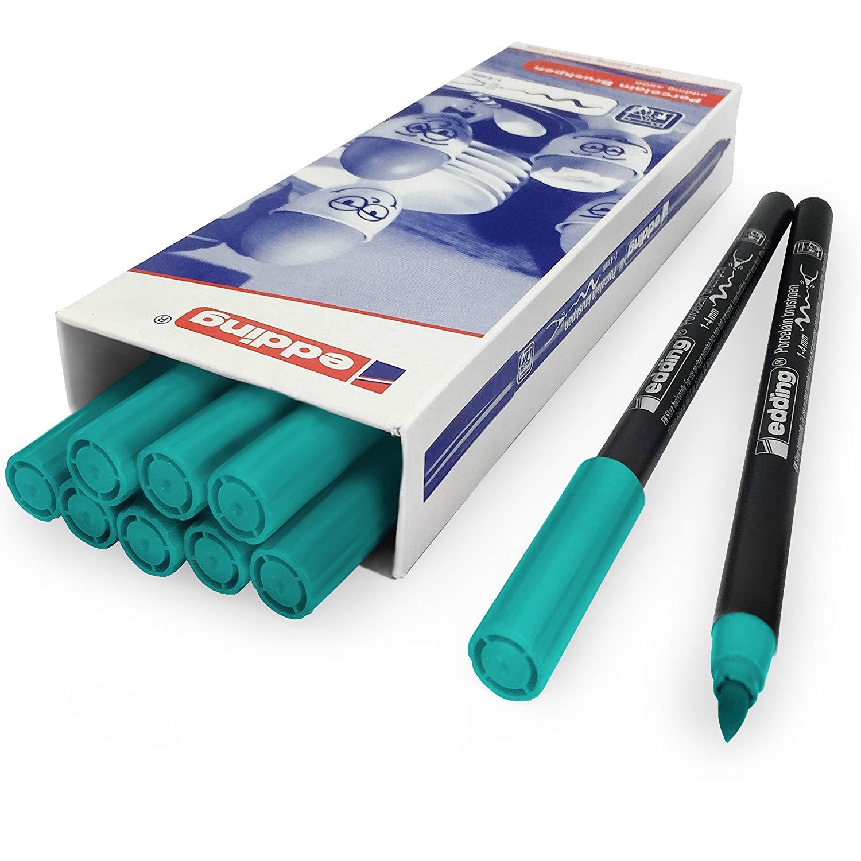Edding 4200 Porcelain Brush Pen – 1-4mm – Pack of 10 - Turquoise #14