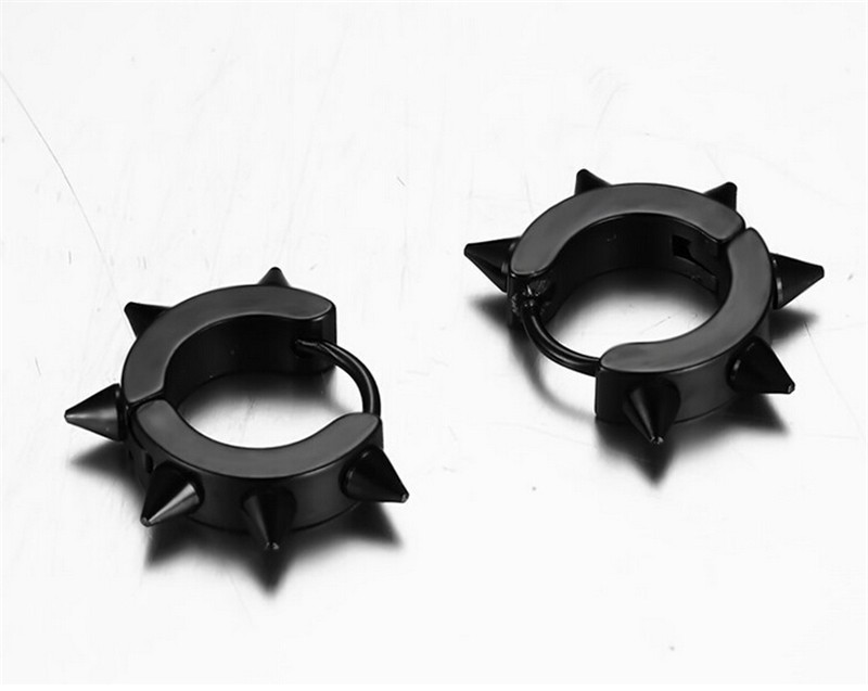 Daihe Black Gold Plated fashion mens earrings