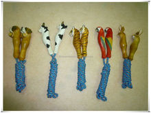 popular animal shaped hand crafted wooden handle Jump rope