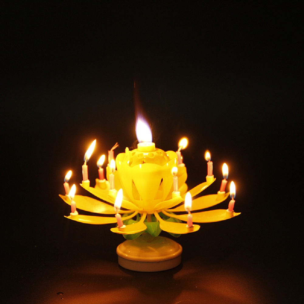 New Lotus Flower Birthday Candle Topsimages