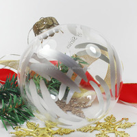 2016 wholesale Xmas decoration glass hand painting christmas ball ornament